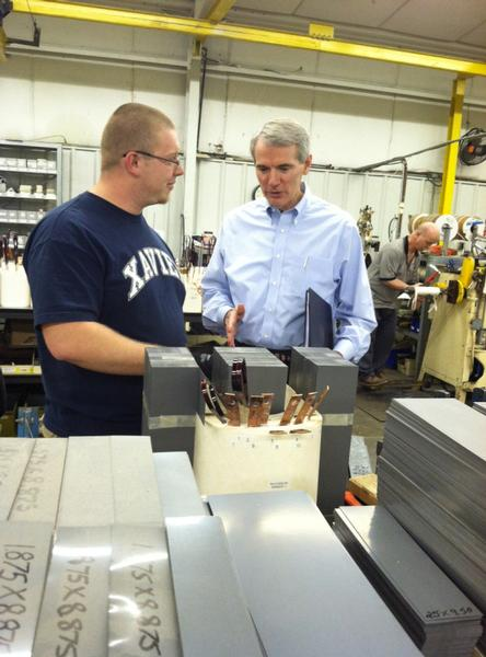 Senator Portman discusses rising gas prices and the need for U.S. energy expansion with workers in Columbus, Ohio.