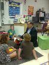 Senator Boozman reads to students at Bellview Elementary in Rogers, Arkansas.