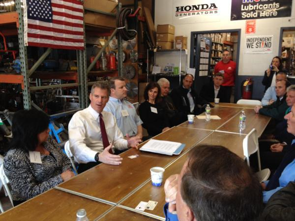 Small business owners tell Senator Brown how tax and regulatory uncertainty are hurting job growth.